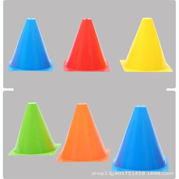 2018 Five Colors Soccer Training Equipments Anti Wear Durable Student  Football Field Practice Drill Marking Plastic Safety Agility Cone 0 85mq Bb  From