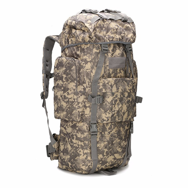 Travel Bags Tactics Military Internal Backpack 65L Molle Camouflage Bag Motion Hiking Mountaineering Backpacks