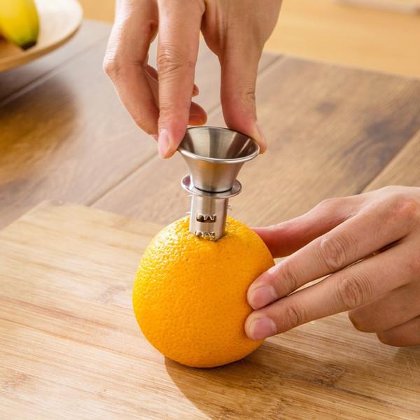 Home Use Stainless Steel Lemon Squeezer Lemon Juicer Pourer Screw Limes Oranges Drizzle Fresh Citrus Juice Kitchen Tool