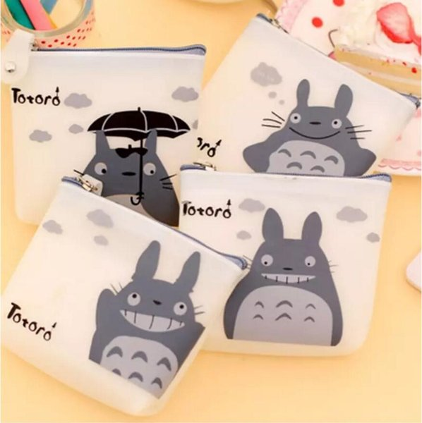 Cartoon Totoro Coin Purse Cute Women Silicone Wallet Pouch Case Bag Kids Bags Pouch Case Holder Bag 4 Types