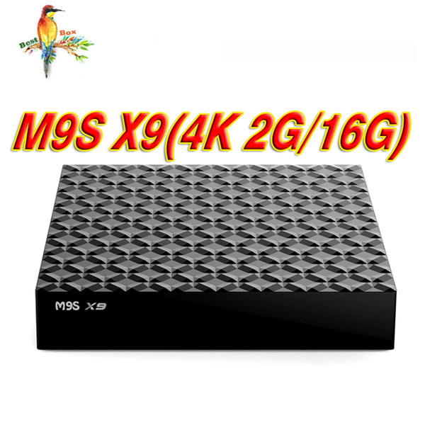 Cheapest Quad Core M9S X9 S8 PRO Android TV BOX 2GB 16GB Bluetooth Android 6.0 Media Player better TX2 X96 MXQ PRO