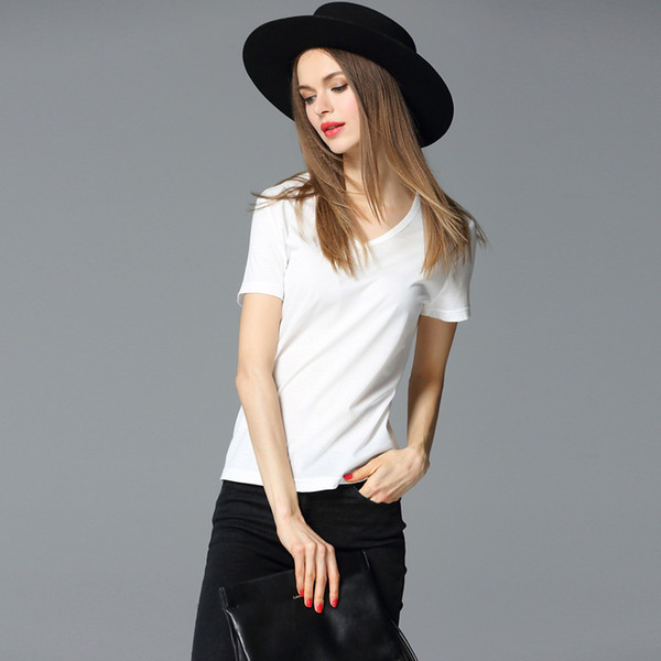 2018 summer European and American fashionable dresses, T-Shirts, European and American women's short sleeved tops.