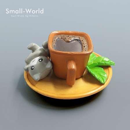 Moda Kawaii Cartone animato Coco Coffee Cat toys Micro Landscape Figurine Fairy Garden Decorations Miniature Artigianato Home Decor