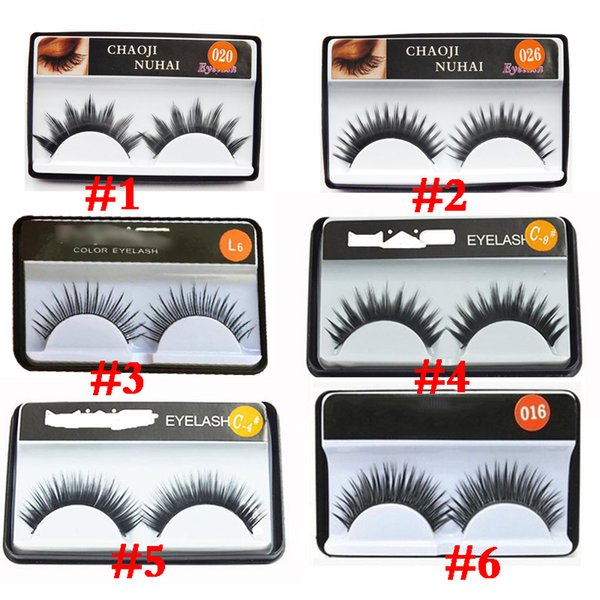 Natural false eyelashes thick false eyelash sootiness makeup studio modelling 1pair in single package