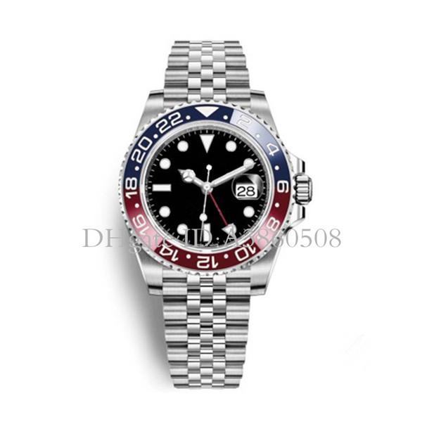 2018 Ultimo nuovo modello di orologi da uomo di lusso orologio da uomo automatico orologio da polso maschile di Basilea Pepsi / Batman GMT
