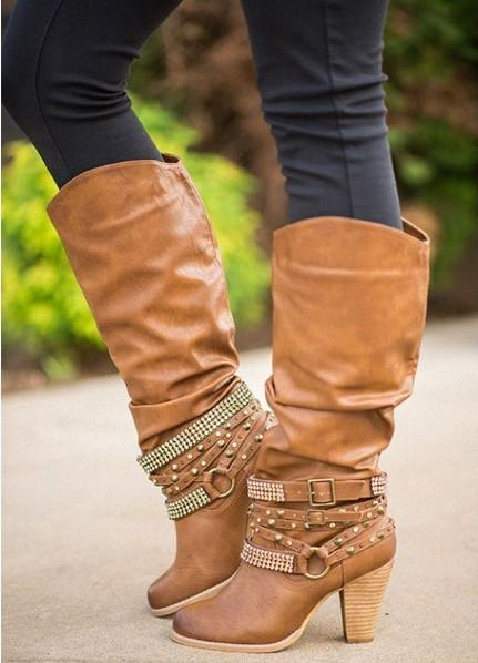 Women Casual Shoes Front Straps Round Toe Low Heel Ankle Boots PU Leather Fashion Zipper Motorcycle Boots Winter Shoes