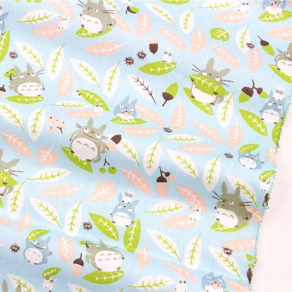 top popular 16821B63, 50cm * 150cm totoro cartoon series, cotton cloth, DIY manual patchwork cotton fabrics,home textiles,free shipping 2021