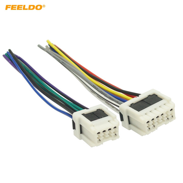 2019 FEELDO Car Stereo Power Wiring Harness Adapter For Old NISSAN on