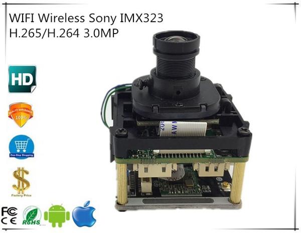 WIFI Sony IMX323 Wireless 3.0MP 2048*1536 FiSHEye M12 Lens H.265/H.264 Intelligent Analys IP Camera Module Board XMEYE CMS P2P