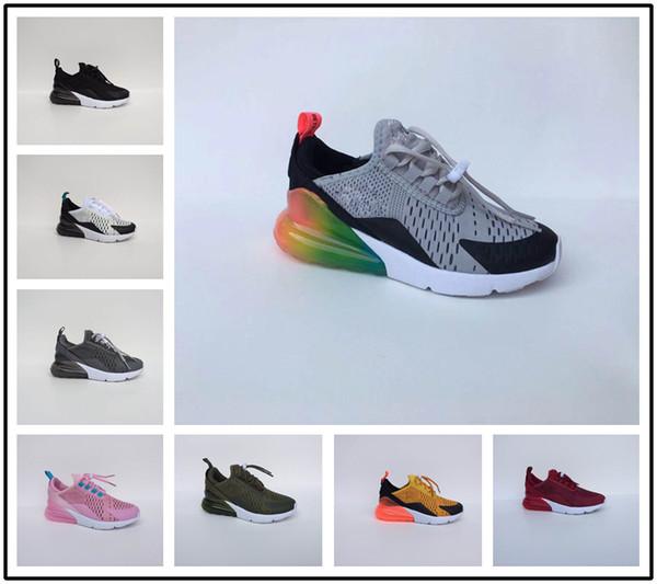 Compre Nike Air Max Airmax 270 Infantil 270 Niños Zapatos Para Correr Negro Blanco Dusty Cactus 27c Niño Al Aire Libre Deportivo Atlético Zapato Marca