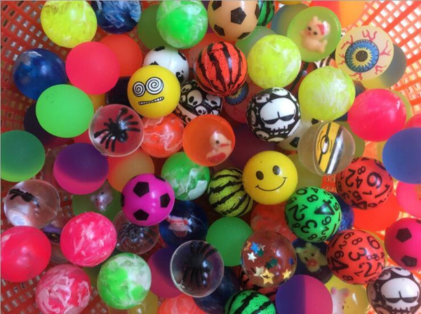 top popular Diameter 25mm rubber Hi Bouncing balls, bouncy ball, bounce ball, picture bouncing ball for kids Decompression Toys Amusement Toys 2019