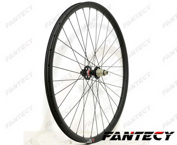 27.5er free shipping hookless mountain bike carbon wheels 27mm width 25mm depth MTB XC carbon wheelset with novatec 791/792 hub