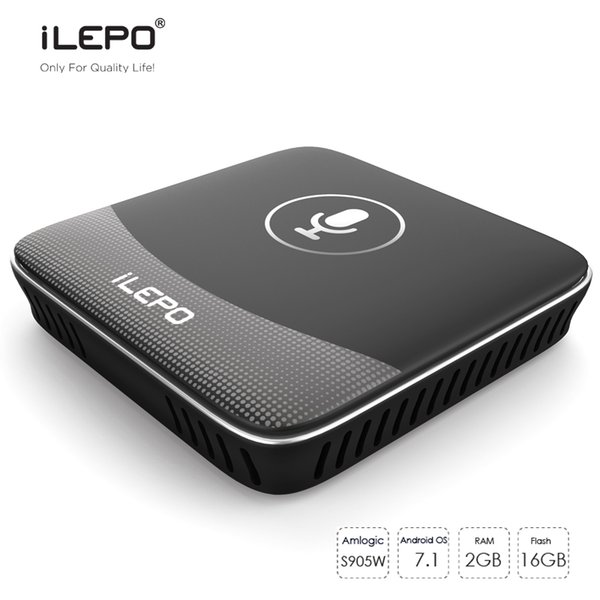 iLEPO i18 Smart Voice Control Andorid TV Boxes Google TV OS Amlogic S905W 2GB 16GB 4K Media Player IPTV Stalker Better X96 mini MXQ Pro