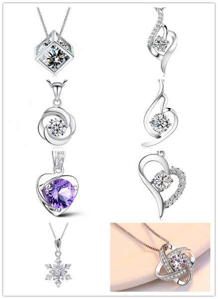 brand new pure silver pendant for necklace heart love frame shape pendants charms jewelry findings components model no. p1-8