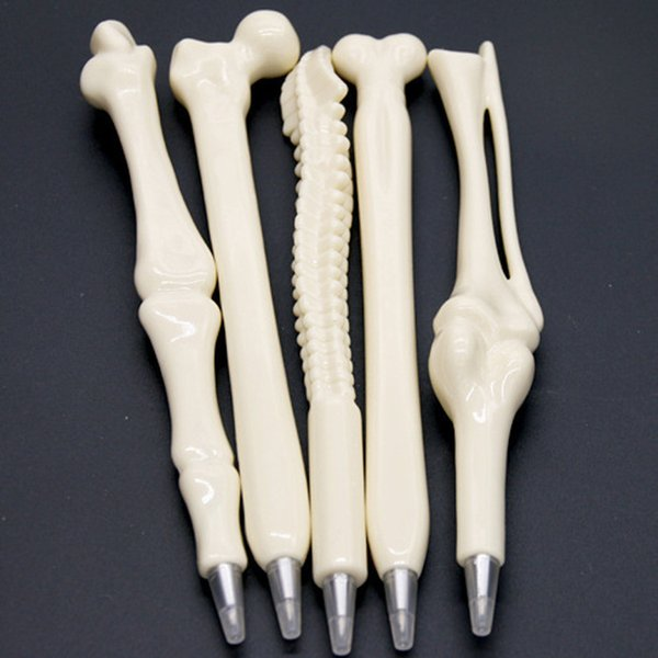 5 Styles Creative Ball Point Pen - Halloween Bone Shape Ballpoint Pen Nurse Doctor Student Teacher Stationery Gift