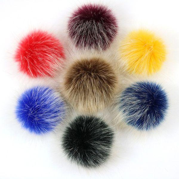 12 pcs/ lot Diy Long Pompom Faux Ball for Women Bag Pendent Shoes Key Chains 10cm Faux Fox Pom pom Ball Accessories