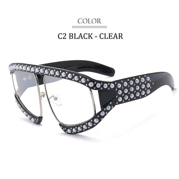 C2 Black Frame Clear Lens