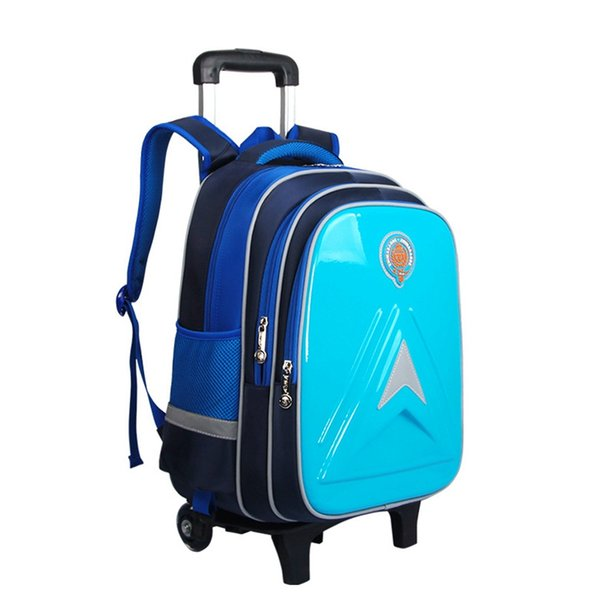 School Bags for Children Removable Children School Bags with Wheels Kids Boys Girls Trolley Schoolbags Wheeled Backpack