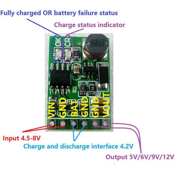 Бесплатная доставка 2 в 1 5 в ИБП питания Diy Совет зарядное устройство повышающий DC DC преобразователь модуль 3.7 В Li-ion LiPo