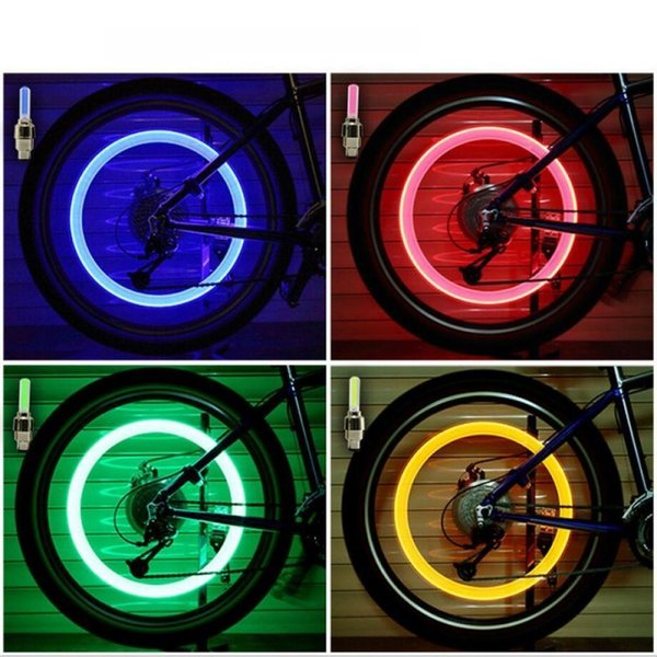 Caps Spokes Light Valve Tyre Accessories Colorful LED Bike Bicycle Wheel lights bycicle Cycling Bike light Car
