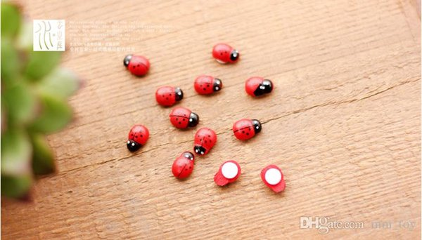 50PCS/Lot Lovely Colorful Ladybug DIY Home Decoration Miniature Model Kids Toys Cute Garden Dolls Action Figure Micro-landscape Tools