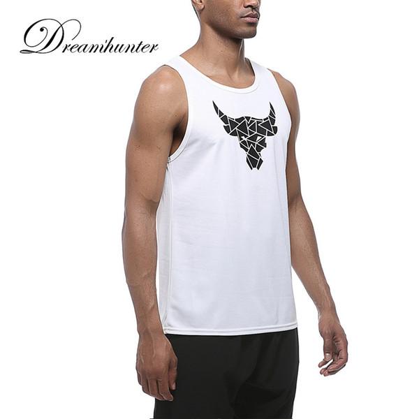 Bull Impreso Bodybuilding Fitness Stringers Camisa Hombres Camiseta sin mangas Hombres Chaleco Correr Gimnasio Sin mangas Camiseta Entrenamiento Deporte Tank Top