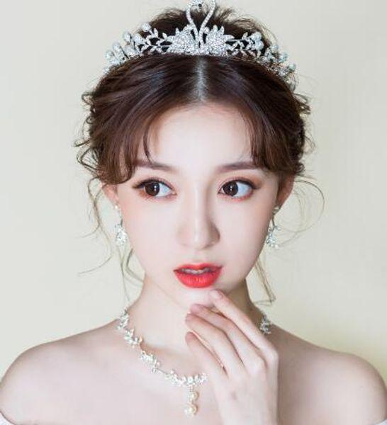 Bridal headwear new crown, air fairy princess, swan crown wedding gown, wedding accessories set