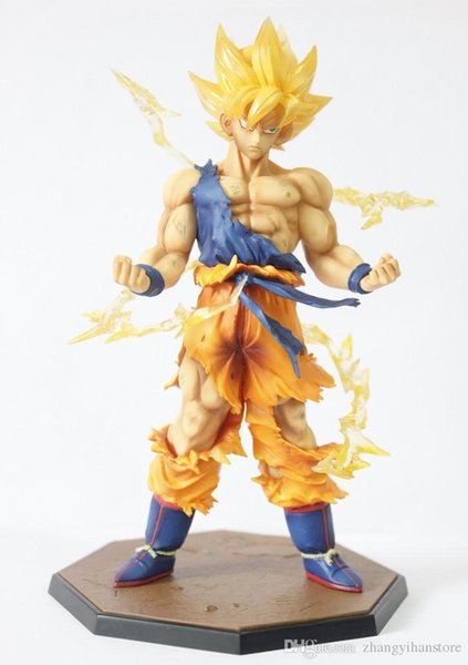 Retail Wholesale Dragon Ball Z Super Saiyan Goku Son Gokou Boxed PVC Action Figure Model Collection Toy Gift
