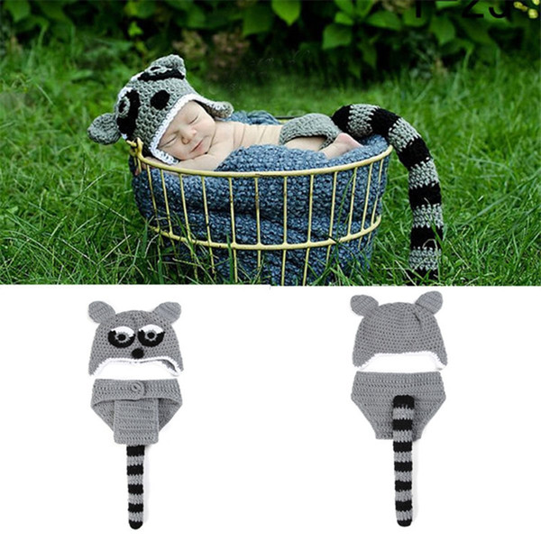 Newborn Baby Photography Props Aminals Hat and Pants Wraps Baby Photo Props Special Pants Hat Set KJ14031FBA
