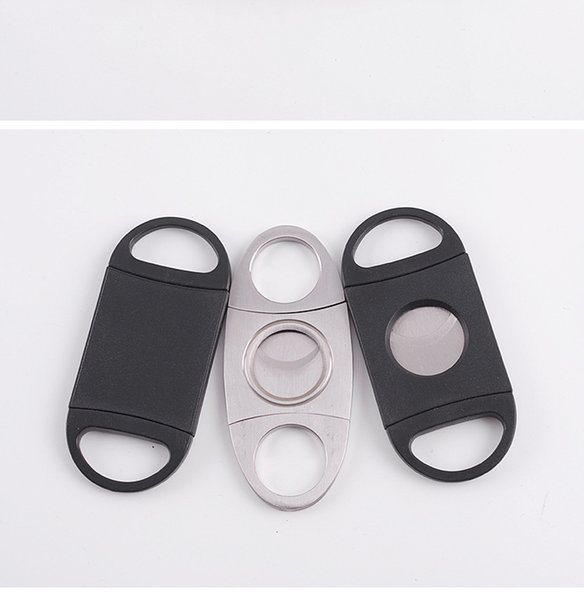 Wholesale mini double-edged cigar cutters stainless steel cigar cutters sharp cigar cutters