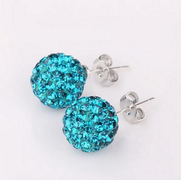 Pierre pleine résine Stud Earring Femmes Mode Super Bling Full Diamond Boucles d'oreilles bijoux en gros livraison gratuite
