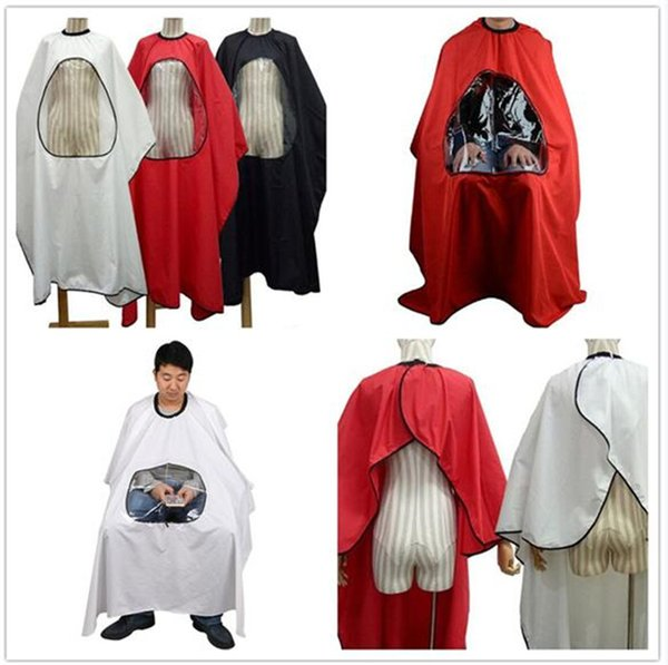 50pcs 4 colors Professional Salon Barber cape Hairdresser Hair Cutting Gown cape Waterproof Cloth for barber Apron X101