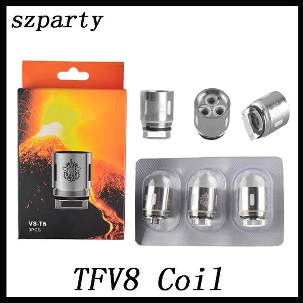 TFV8 Coil Head X4 Q4 T6 T8 T10 RBA Eletronic Cigarette Cloud Replacement Coils For TFV8 Cloud Beast Tank Atomizer 0266101-1