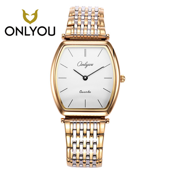 ONLYOU Lovers Watch Women Waterproof Wristwatch Men Stainless Steel Gold Dress Casual Girl and Boy Clock Male relogio masculino
