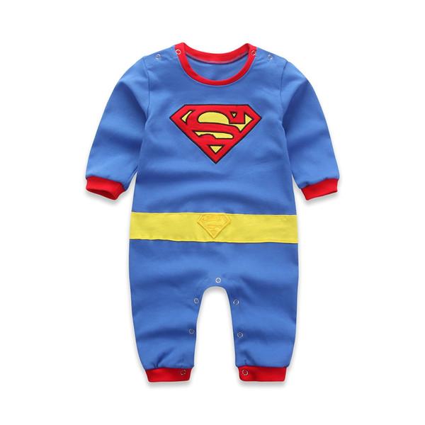 Bebê recém-nascido roupas Superman Spiderman roupas infantis bebê traje de manga comprida manga curta corpo jaqueta