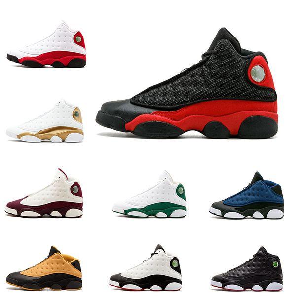 Wholesale 13 13s mens basketball shoes He Got Game Hyper Royal Italy Blue Bordeaux Flints Chicago Bred DMP Wheat Black Cat Men 7-13