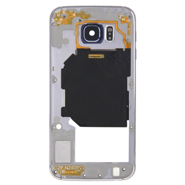 20Pcs (Checked) For Samsung Galaxy S6 G920 G920F G920P G920A/V/W/T/U/R/S/K/L Middle frame Rear Housing Midframe Bezel Chassis Plate DHL Free