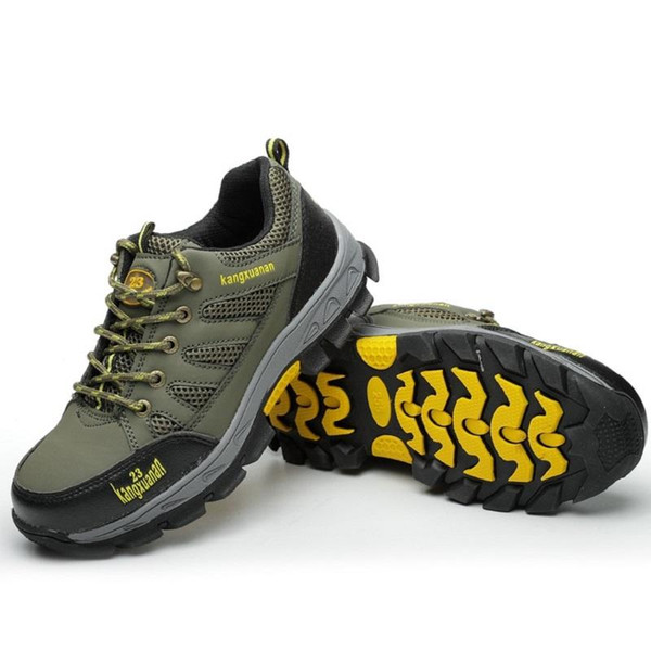 Men Steel Toe Safety Work Shoes Breathable Hiking Sneaker Multifunction Protection Footwear