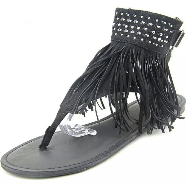 2018 femmes sandales plate-forme ouverte orteils sandales femmes bohème plat sandales zapatos mujer