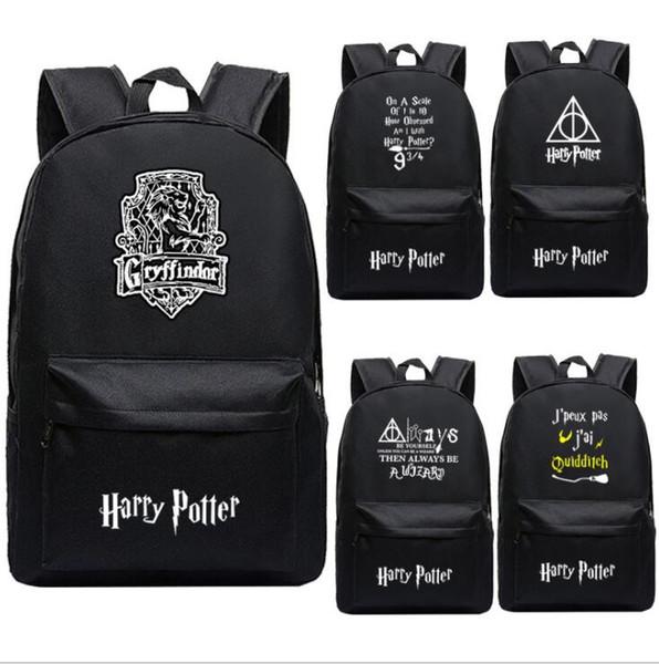 Harry Potter School Bags Backpack Student School Bags Notebook Backpacks Cartoon Backpacks teenagers Rucksacks 9 design KKA5754