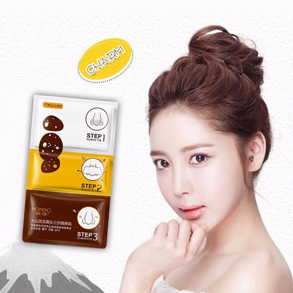 Thermal Mud Blackhead Remover Three Steps Nose Peel Shrink Pores Acne Treatment Suck Out Black Head Hanchan
