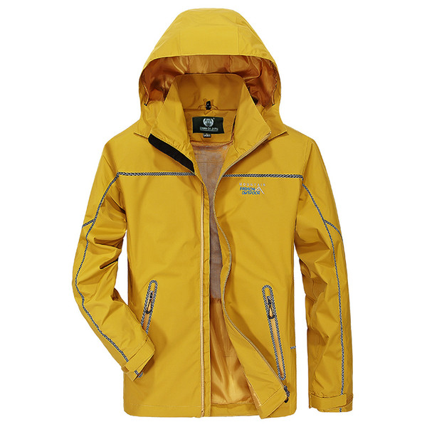 d02c228c6c 2019 Waterproof Jacket Mens Raincoat Outdoor Hooded Lightweight Soft Shell  Windproof Rain Jackets For Hiking Mountain Hunting Cycling From Pittsburgh,  ...