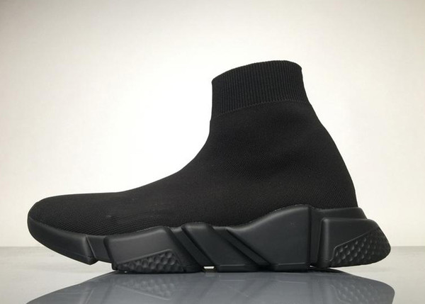 HEIßER VERKAUF 2018 Frauen Neue Luxus Paris Speed Trainer Stretch Knit Socke Herren schwarz rot Designer Marke Schuhe Turnschuhe Eur 36-45