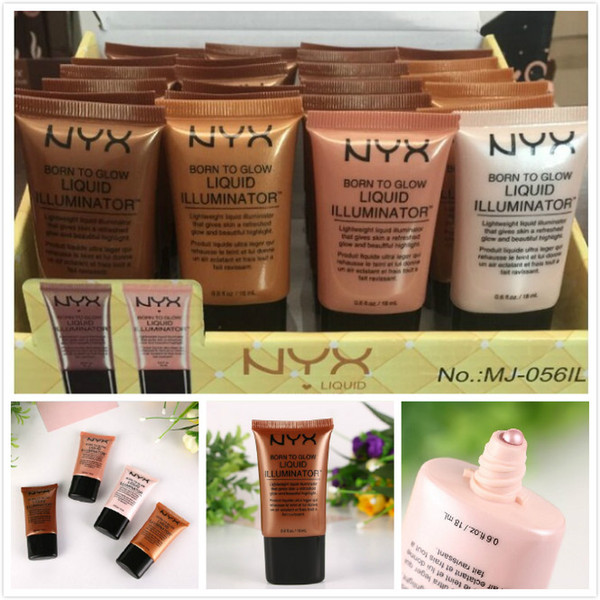 NYX Brands Face Concealer Foundation Liquid Makeup Born To Glow Liquid Illuminator BB Cream Make Up Cosmetics Skin Care by free shipping