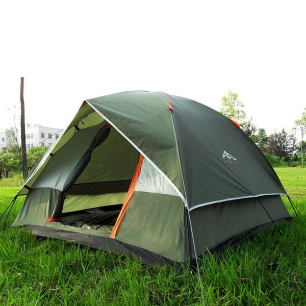 Three Person 200*200*130cm Double Layer Weather Resistant Outdoor Camping Tent for Fishing Hunting Adventure Family Party