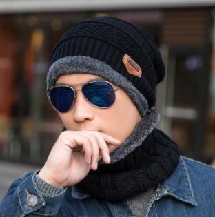 2018 new knitted winter hat carf beanie knit men 039 winter hat cap kullie bonnet for men women beanie ca ual neck warmer, Black;white