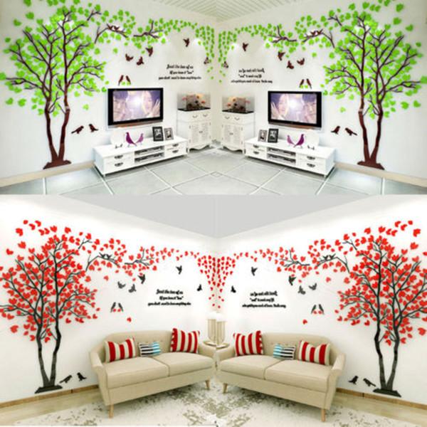 New Tree 3d Wall Art Sticker Vinyl Decal Fashion Luxury Home Room Window Door Decor Mural Flowers Wall Stickers Wall Motifs Wall Mural Decal From