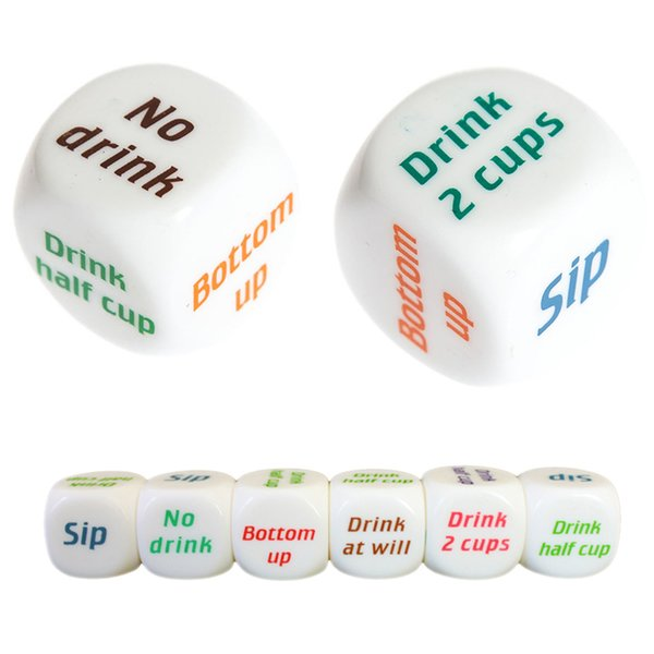 Funny Adult Drink Decider Dice Party Game Playing Drinking Wine Mora Dice Games Party Favors Festive Party Supplies