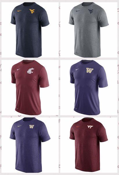 West Virginia Mountaineers Virginia Tech Hokies Washington Huskies Washington State Cougars Touch T-Shirt Heather Navy Crimson Purple