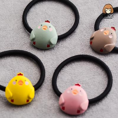 Metal chicken, cute cartoon, children's rubber band, hair band, ornament.